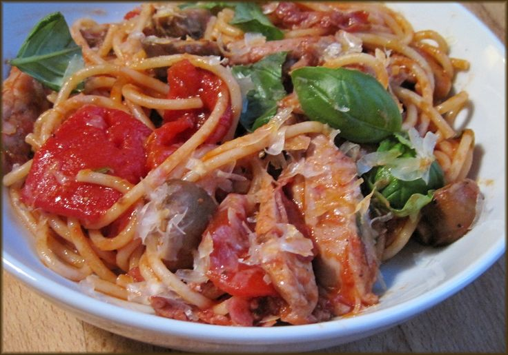 Spaghetti and Smoky Tomato Sauce