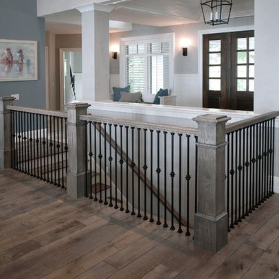 White wash the banisters
