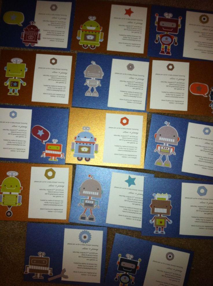 boy baby shower invitations australia%0A robot baby shower invites