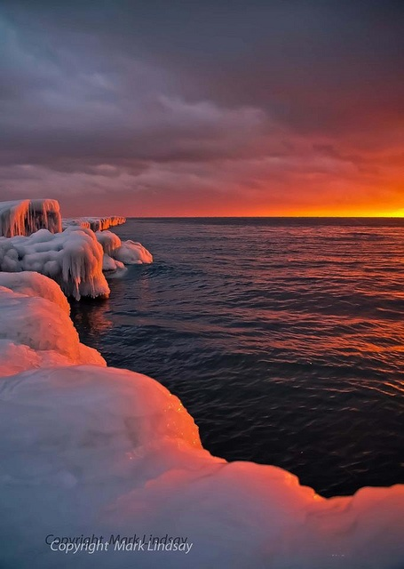 Sunset on Point Betsie by Pure Michigan