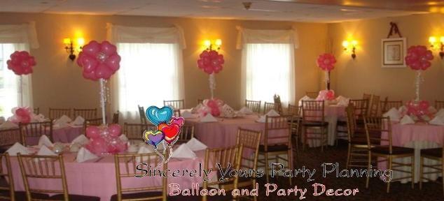 Birthday sweet 16 balloon centerpieces triad winston salem for Balloon decoration ideas for sweet 16