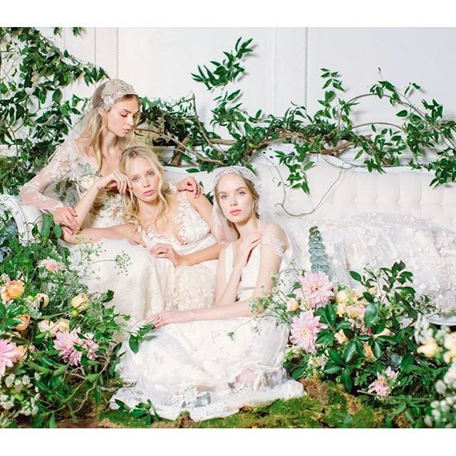 The Four Seasons wedding dress collection by Claire Pettibone. Photographed by Kayla Barker