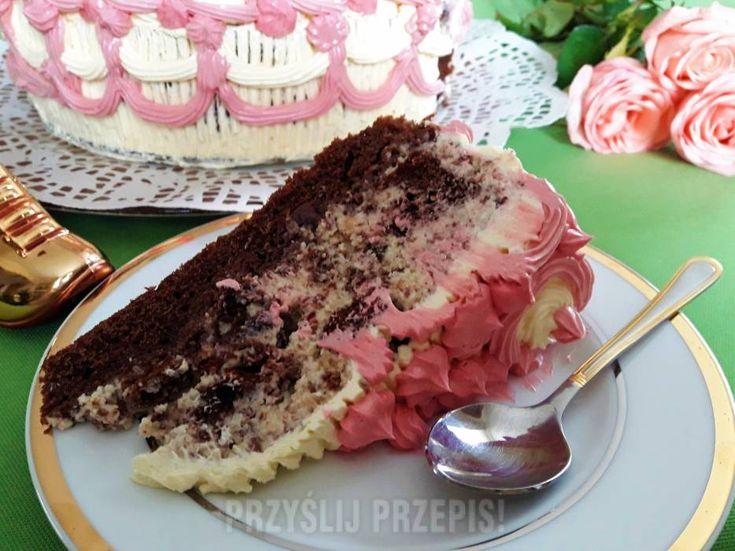 Ciasto kakaowe na kefirze z suszoną śliwką