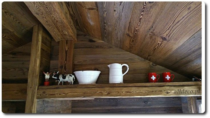 Sufit w starym drewnie/ Plafond en vieux bois