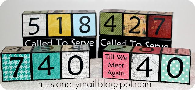 Missionary Mail: Countdown Charts