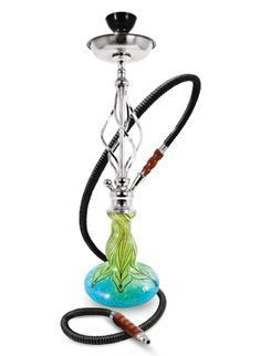 Hookah Pipes, Medium Hookah Pipes, Jezebel Lotus Modern Hookah Pipe 25""