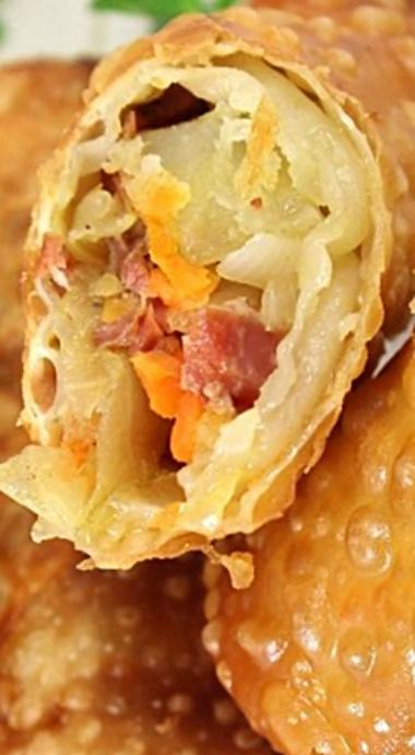 Irish Egg Rolls -  great way to use up leftovers from your corned beef and cabbage dinner - great party app also! ❊