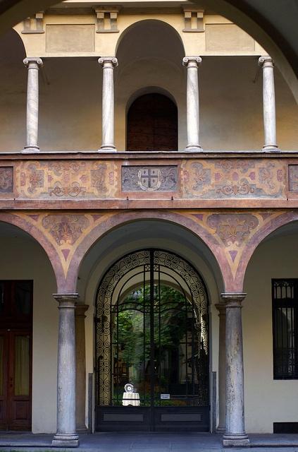 Torino, Via Stampatori, Palazzo Scaglia di Verrua, Innenhof (Scaglia di Verrua Palace, courtyard)