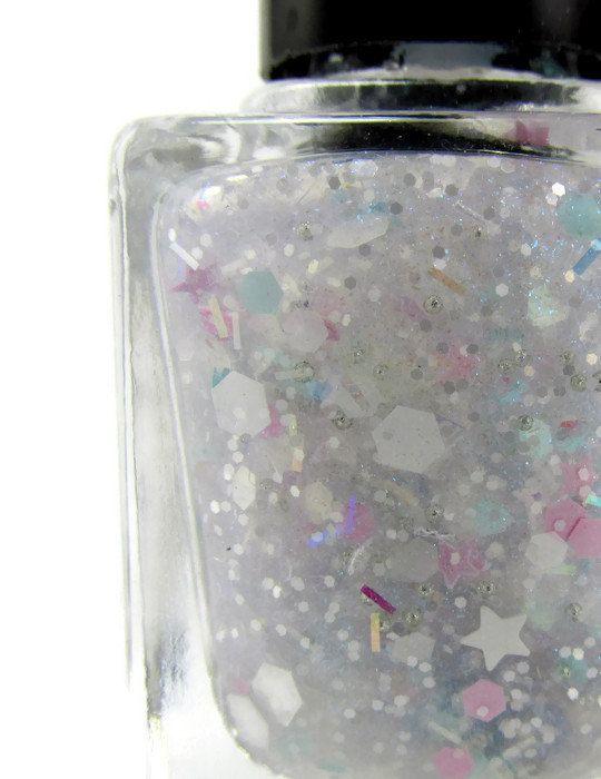 Ice Ice Baby Nail Polish, Nail Enamel, Glitter Topper, Iridescent Polish, Pastel Polish, Cruelty Free, Five Free, Full Size, 15mL