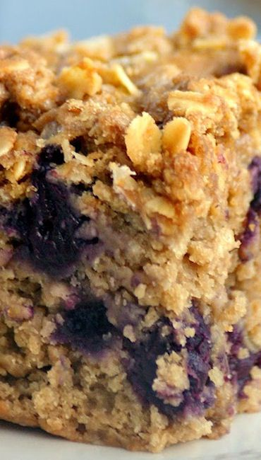 Healthy Blueberry Crumble Cake