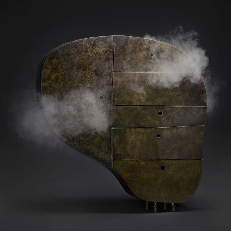 Maarten Baas extrude ses croquis pour créer Fermer collection de meubles de parité