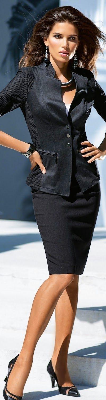 MADELEINE Black Skirt and Jacket