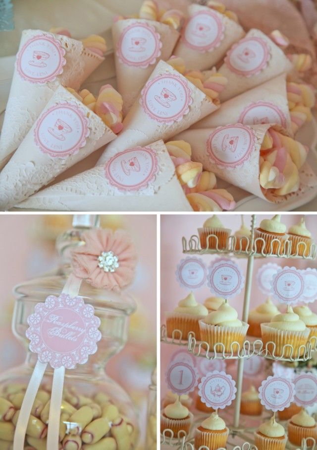 vintage pink doily tea party tea themed parties
