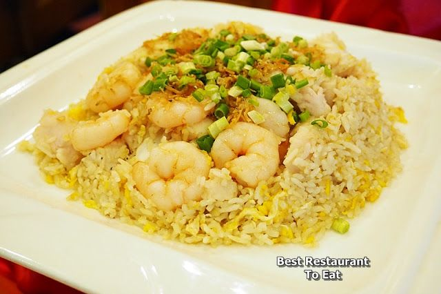 Fried Rice with Seafood and Anchovies topping -  Best Restaurant To Eat - Malaysian Food Blog: Lobster Promotion at Tung Yuen Halal Chinese Restaurant Grand Blue Wave Hotel Shah Alam