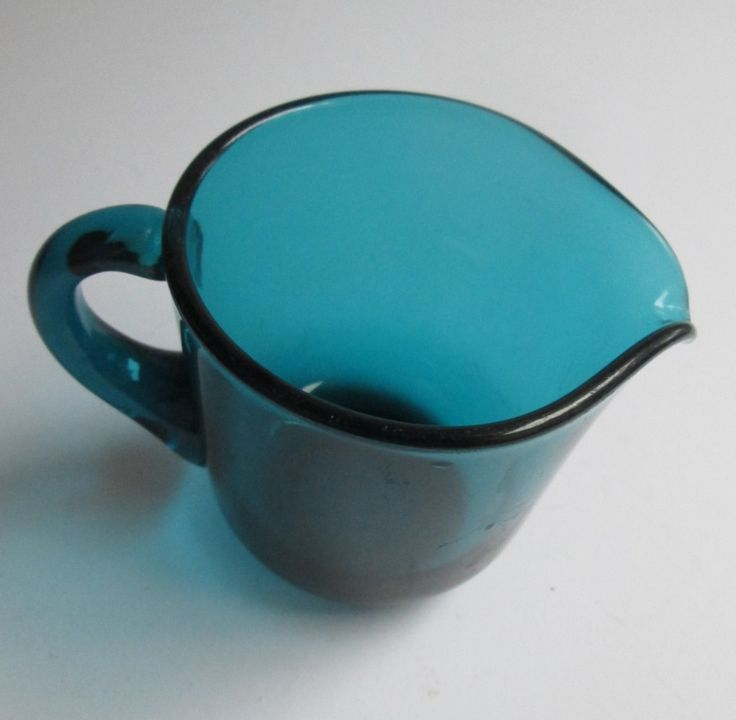 Turqoise green glass creamer 5578, designed 1955 by Saara Hopea for Nuutajärvi Notsjö Finland by SCALDESIGN on Etsy
