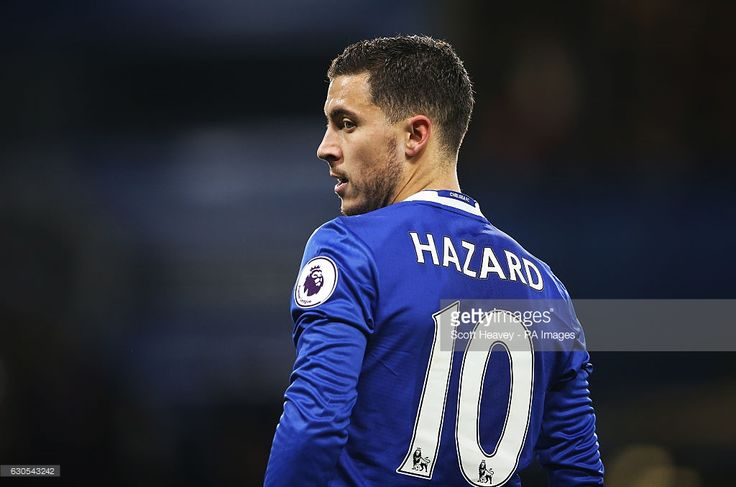 Chelsea's Eden Hazard during the Premier League match at Stamford Bridge, London.  Posted by AJM Web Services - social media marketing services https://www.ajmwebservices.co.uk