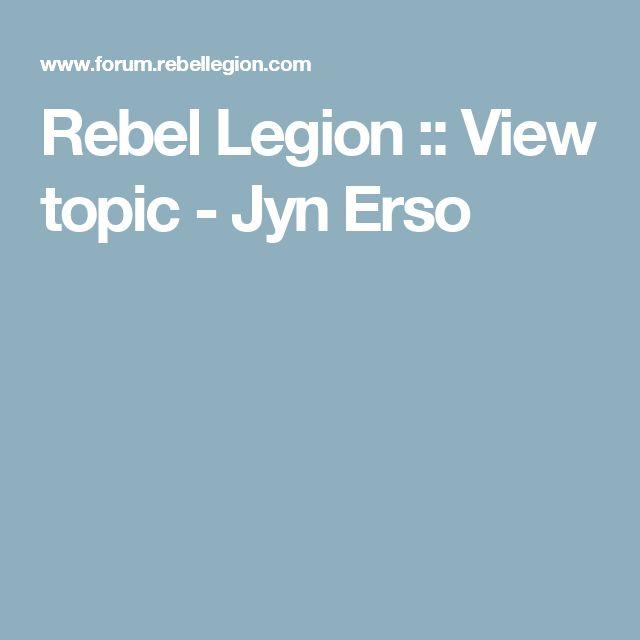 Rebel Legion :: View topic - Jyn Erso