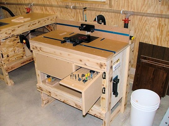 Router table stand plans woodworking projects plans for Menuiserie stand