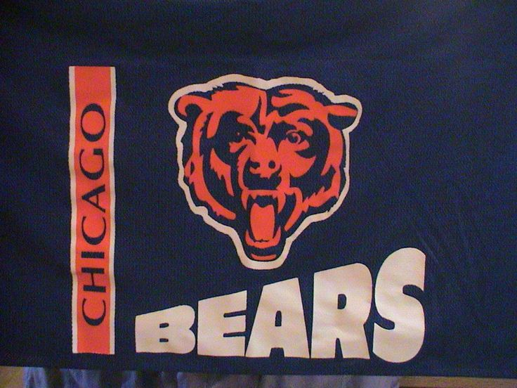 SPORTS CHICAGO FOOTBALL TEAM,BEARS NFL Team Logo WINDOW CURTAIN VALANCE,DECOR #NFL #ChicagoBears