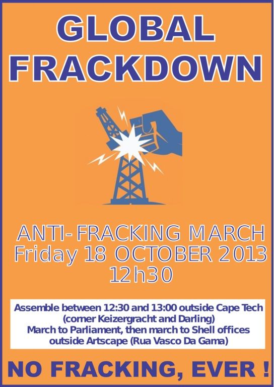 People of Faith, let your voice count! Join the anti-fracking march in Cape Town!! :)