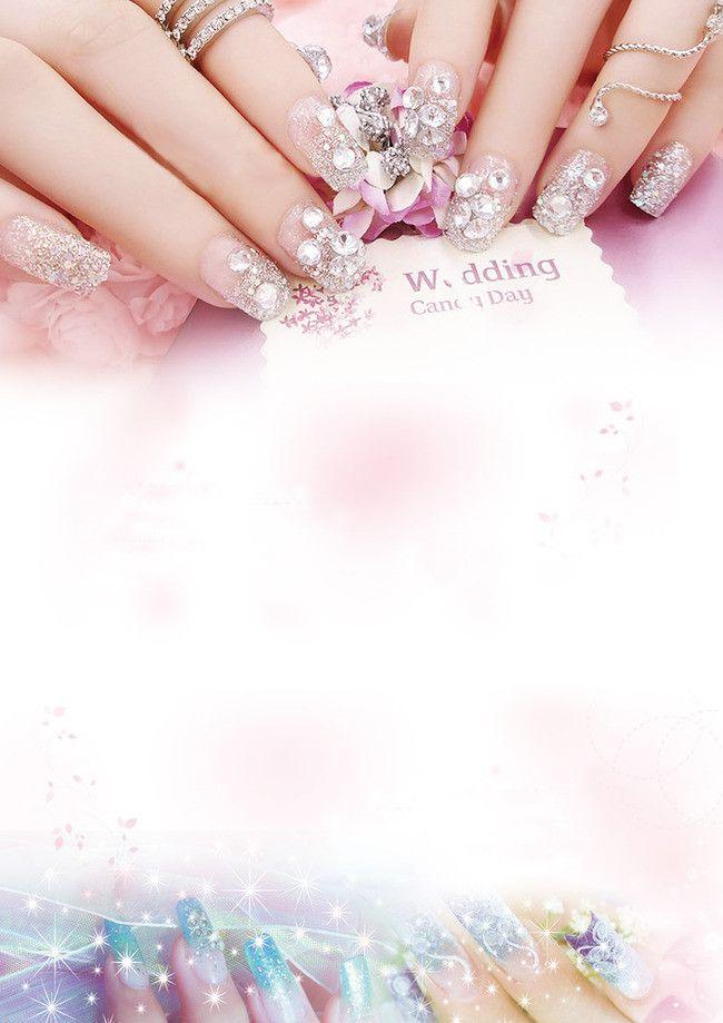 Beautiful Nail Samples Nail Poster Background Material In 2020 Nail Salon Design Nail Logo