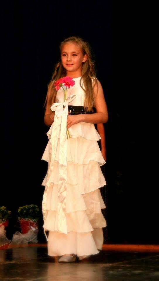 Black & White Flowergirl Dress