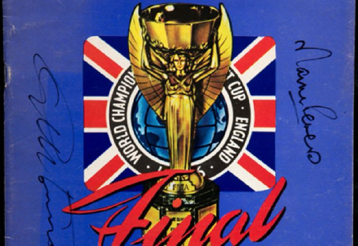 1966 World Cup Final Programme Signed By Geoff Hurst & Martin Peters.