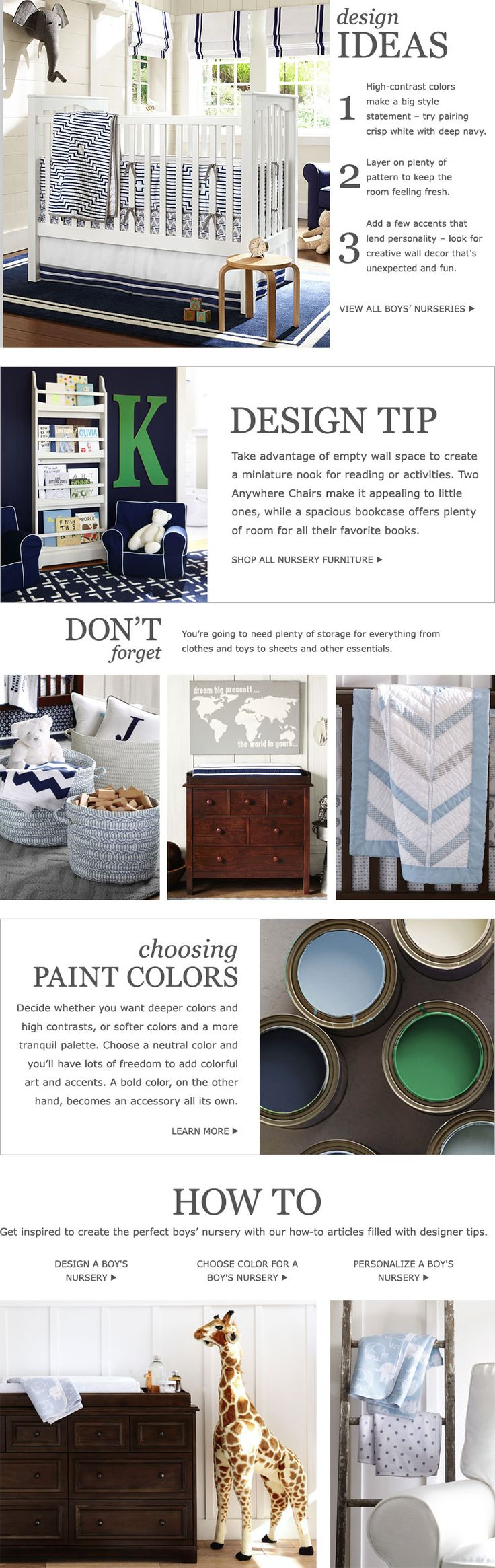Top tips for making a baby s nursery special - Baby Boy Nursery Ideas Nursery Ideas For Boys Pottery Barn Kids