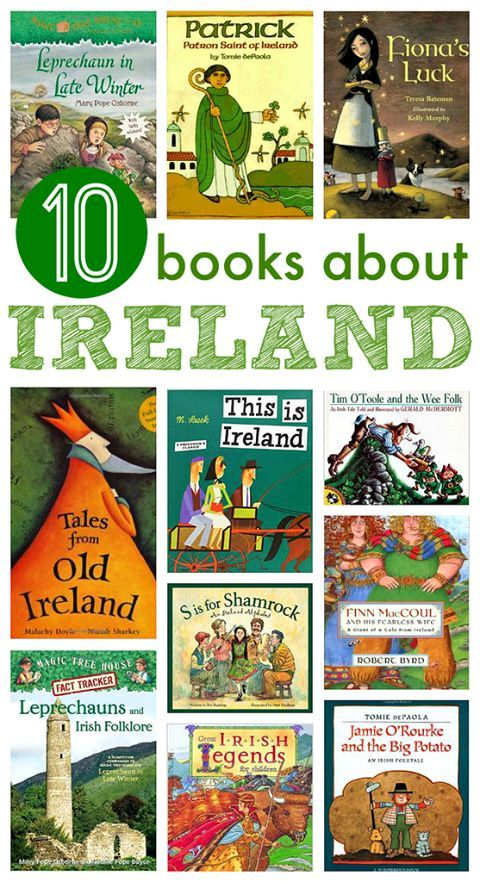 Books about Ireland for St.Patrick's Day or any other day.