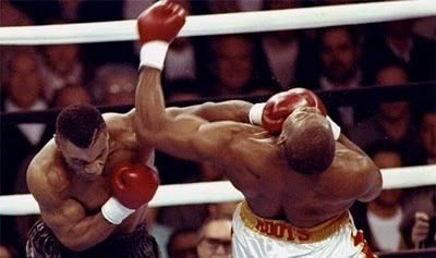 As long as we persevere and endure, we can get anything we want - Mike Tyson's perfectly timed left hook haymaker.