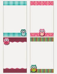 FREE Printable: Owl Notecards : Fashionable Moms