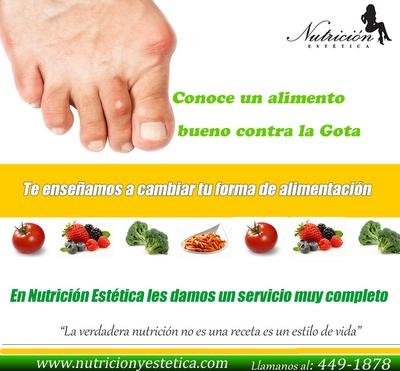Conoce un alimento bueno contra la Gota. NUTRICIÓN ESTÉTICA http://nutricionylaestetica.blogspot.com/2012/07/conoce-un-alimento-bueno-contra-la-gota.html?spref=tw