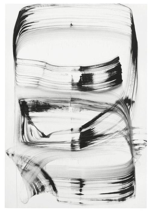 "Julia Dault  The Information (mega brush), 2011  Oil on pleather  61 1/2"" x 42 1/2"""