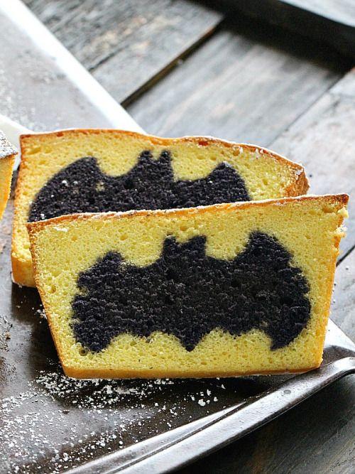 Easy Surprise Inside Batman Cake