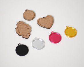 Kit pingentes mini bastidor-bordar colar
