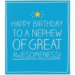 Happy Birthday Nephew of Great Awesomeness! Card