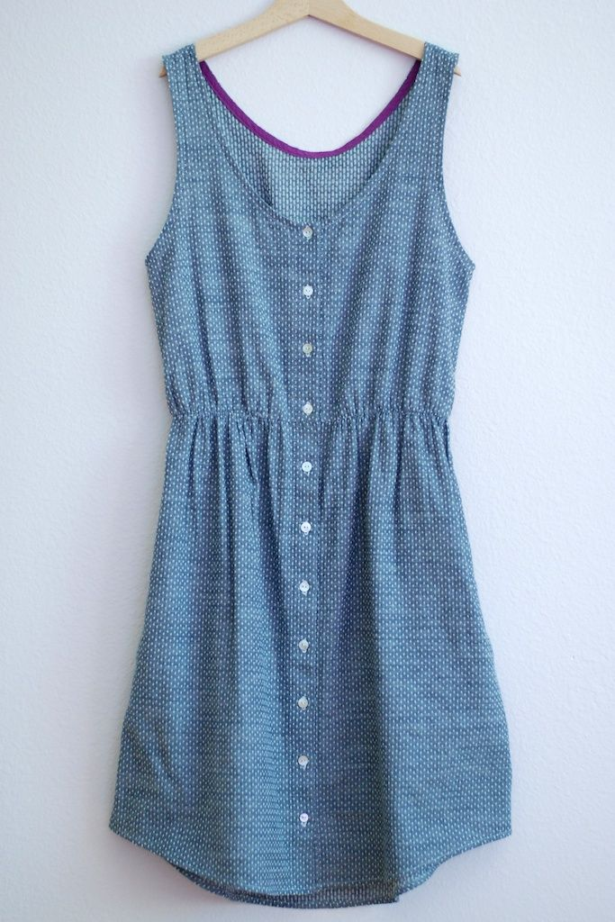a combination of two different dress patterns - Darling Ranges and Eucalypt