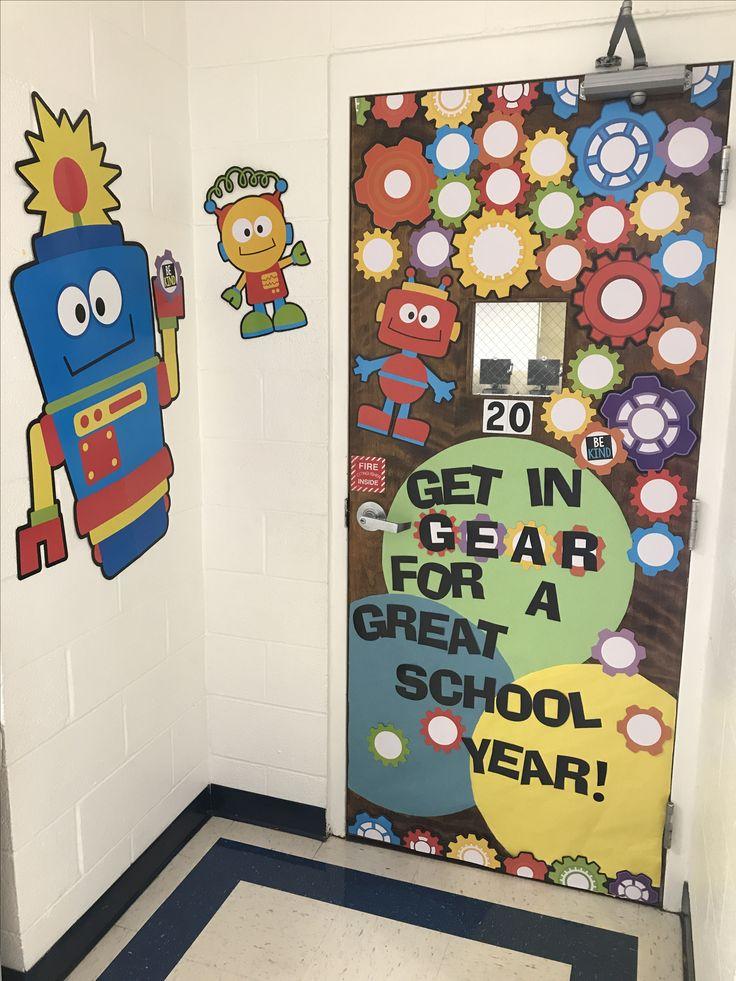 Robot Classroom Decoration Ideas ~ Technology classroom door back to school decor