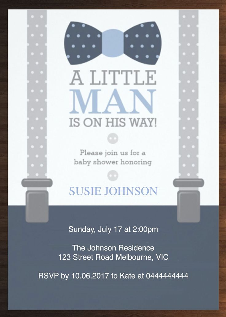 Custom Boy Baby Shower Invitation Prints