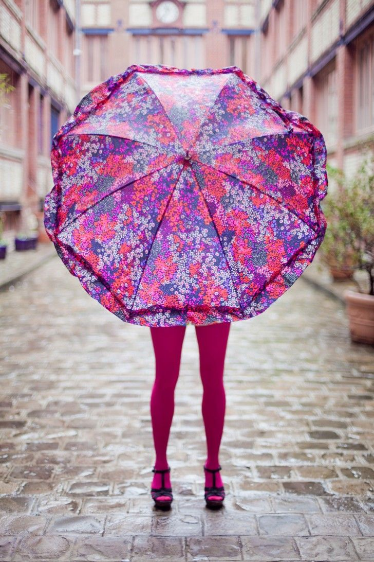 dress colorfully statement umbrella