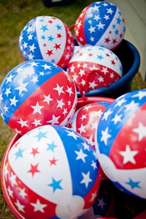 Red White and Blue Stars and Stripes First Birthday Party