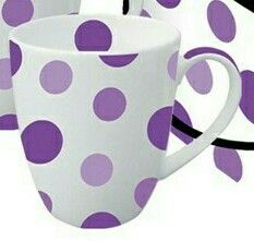 Purple ~ This reminds me of my mom ~ Her love of mugs. She had quite the collection hanging on her walls ...
