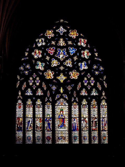Exeter Cathedral stained glass window