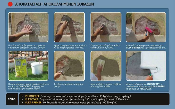 Follow ISOMAT's instructions and repair on your own, the detached plaster on the exterior walls of your building.