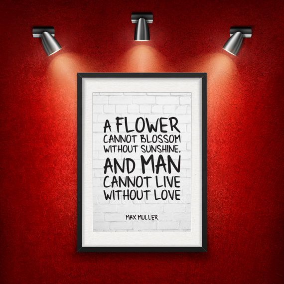 Max Muller Love Quote DIGITAL DOWNLOAD от MotivationalThoughts