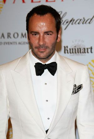 Tom Ford. Ivory dinner jacket!. White tuxedo shirt. Oversized bowtie. Black studs. So elegant!
