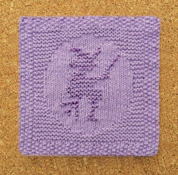 Halloween dishcloth, witch, broom, 100% cotton, purple, knitted dishcloth, ha...