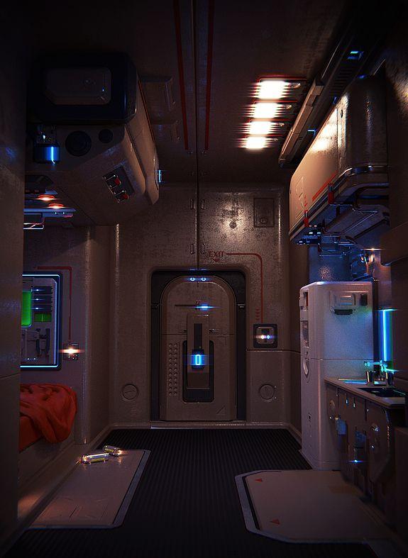 Futuristic Apartment by Denis Osmanbegovic  3D