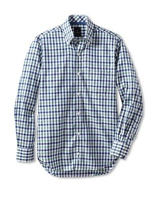 TailorByrd Men's Smirnoff Gingham Long Sleeve Shirt