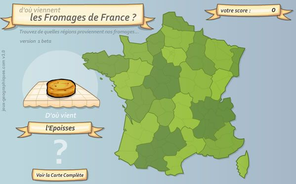 Interactive French geography games